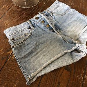 Amuse society Denim Blue highwaisted Shorts Sze27